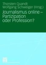 Einführung: Journalismus online - Partizipation oder Profession