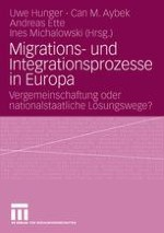 Migrations- und Integrationsprozesse in Europa. Vergemeinschaftung oder nationalstaatliche Lösungswege?