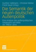 Vokabularanalyse — Ein sprachanalytischer Ansatz zur Erforschung außenpolitischer Identität