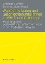 Wohlfahrtsstaaten und Geschlechterungleichheit im Transformationsprozess
