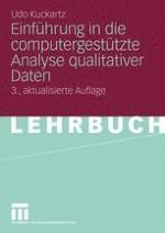 Software für die qualitative Datenanalyse: Leistungen, Anwendungsfelder, Arbeitsschritte
