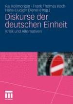 Diskurse der deutschen Einheit: Forschungsinteressen und Forschungsperspektiven des Bandes
