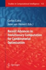 An Evolutionary Algorithm for the Solution of Two-Variable Word Equations in Partially Commutative Groups