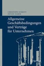 Übersicht zum deutschen Recht der Allgemeinen Geschäftsbedingungen