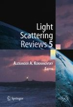 Numerical simulations of light scattering and absorption characteristics of aggregates