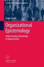 Organization as Conceptual Distinction