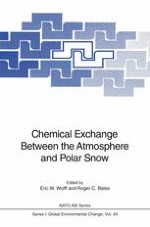 The Record of Aerosol Deposited Species in Ice Cores, and Problems of Interpretation