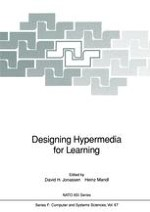Problems and Issues in Designing Hypertext/Hypermedia for Learning