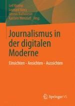 Journalismus in der digitalen Moderne: Einführung