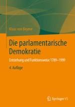 Das parlamentarische System als Begriff der Herrschafts-Formenlehre