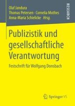 Journalism as a Profession: The Visionary Scholarship of Wolfgang Donsbach