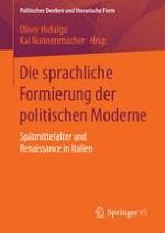 Einleitung: Das politische Vokabular in Italien zwischen dem 13. und 16. Jahrhundert