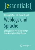 Sprachliche Stilistik von Weblogs, Corporate Blogs & Zeitungskommentaren