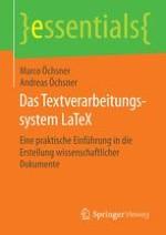Einführung: Was ist LATEX?