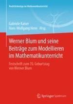 Werner Blum und sein Beitrag zum Lehren und Lernen mathematischen Modellierens