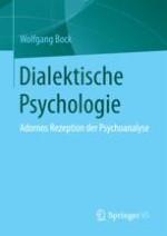 Dialektische Psychologie versus analytische Sozialpsychologie. Adornos Konzept von 1934