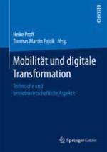 Mobilität und digitale Transformation - Technische und betriebswirtschaftliche Aspekte - Einordnung
