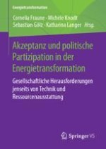 Einleitung: Akzeptanz und politische Partizipation – Herausforderungen und Chancen für die Energiewende