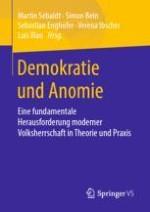 Anomie als fundamentale Herausforderung moderner Demokratien: Problemstellung, Forschungsdesiderate und Koordinaten des Projekts