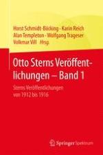 Lebenslauf und wissenschaftliches Werk von Otto Stern
