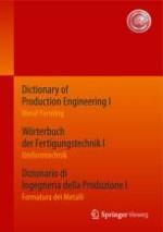 General Terms of Metal Forming Grundbegriffe der Metallbearbeitung Nozioni fondamentali della formatura dei metalli