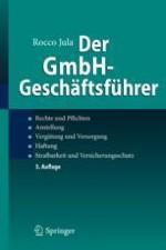 1 Teil Der organschaftliche Status des GmbH-Geschäftsführers