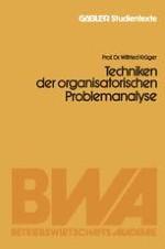 Begriff und Stellung im Organisationsprozeß
