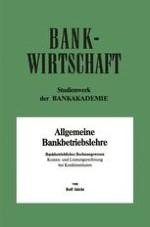 Grundlagen der Bankkostenrechnung
