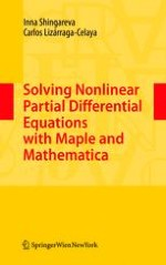 Solving Nonlinear Partial Differential Equations with Maple and