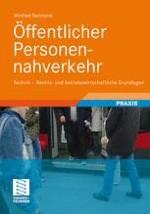 Entwicklung des Öffentlichen Personennahverkehrs