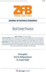 "Editorial—ZfB Special Issue ""Real Estate Finance"""