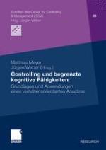 Controlling und begrenzte kognitive Fähigkeiten: Ausgangspunkte und Grundfragen