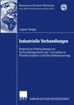 Bedeutung von Verhandlungen im Industriegütermarketing