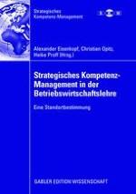 Die kompetenztheoretische Erklärung von Unternehmungen anhand des Organisationalen Ambientes (Abstract)
