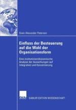 Organisationsformwahl als Fragestellung in der Betriebswirtschaftslehre