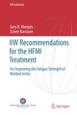 IIW Recommendations on High Frequency Mechanical Impact (HFMI) Treatment for Improving the Fatigue Strength of Welded Joints