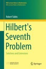Hilbert's seventh problem: Its statement and origins