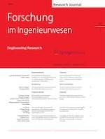 Forschung im Ingenieurwesen 1/2021