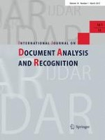 International Journal on Document Analysis and Recognition (IJDAR) 1/2015