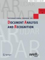 International Journal on Document Analysis and Recognition (IJDAR) 1-2/2018