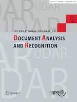 International Journal on Document Analysis and Recognition (IJDAR) 3/2020