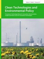 Clean Technologies and Environmental Policy 1/2013