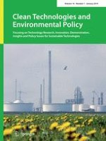 Clean Technologies and Environmental Policy 1/2014