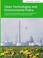 Clean Technologies and Environmental Policy 1/2016