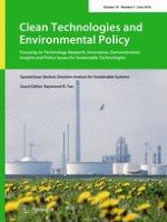 Clean Technologies and Environmental Policy 5/2016