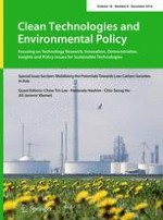Clean Technologies and Environmental Policy 8/2016