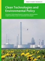 Clean Technologies and Environmental Policy 9/2017