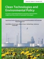 Clean Technologies and Environmental Policy 10/2018