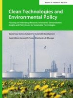 Clean Technologies and Environmental Policy 4/2018