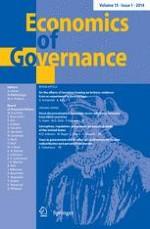Economics of Governance 1/2014